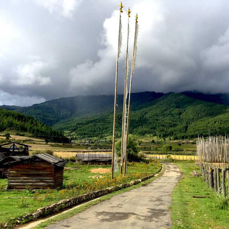 Beautiful valley of Uru Bumthang