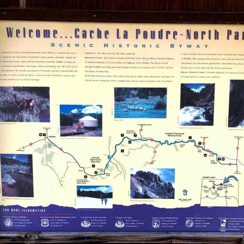 Cache la Poudre - North Park Scenic Byway Start Point