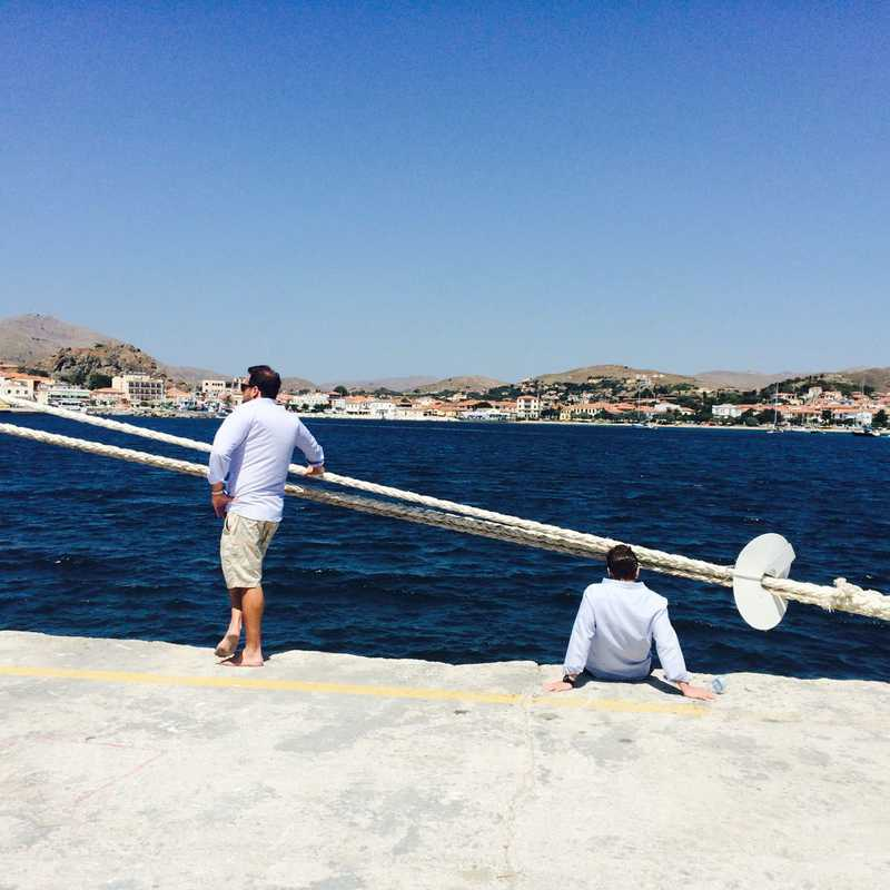 Departing Limnos (Myrina)