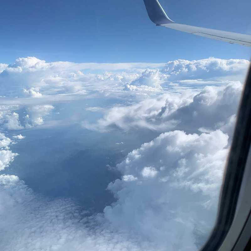 Flying over North Sulawesi