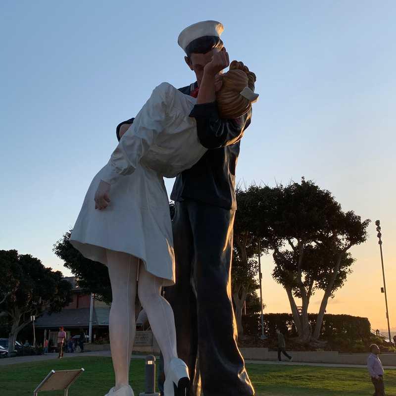 Unconditional Surrender Statue Sculpture