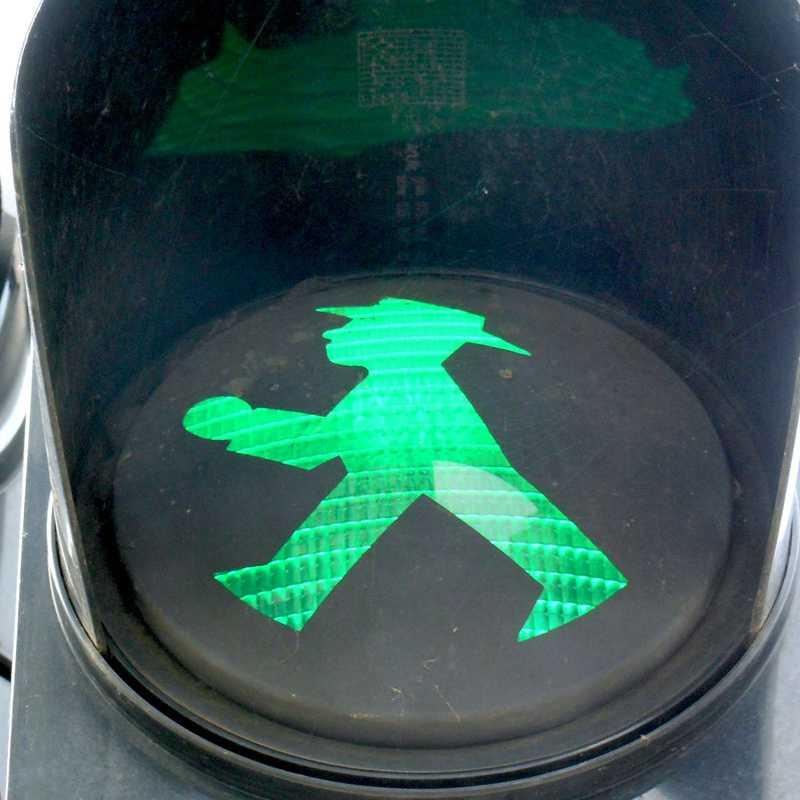 Marchando no semáforo