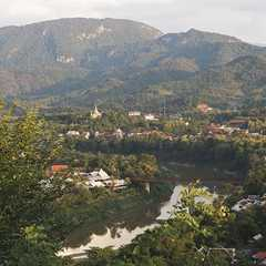 View of Luang Prabang and Nam Khan River