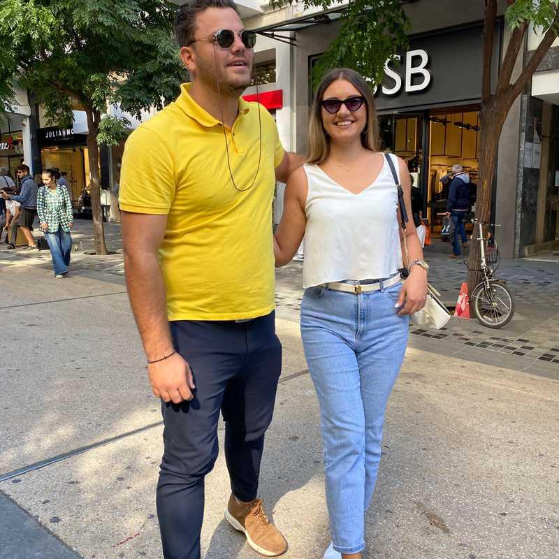 Agias Sofias sidewalk
