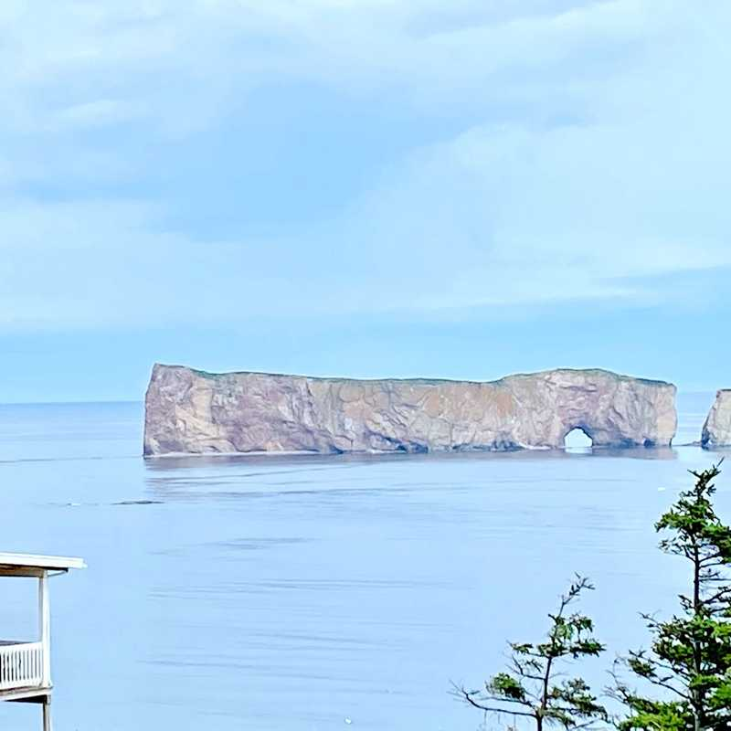 View Point of Perce rock