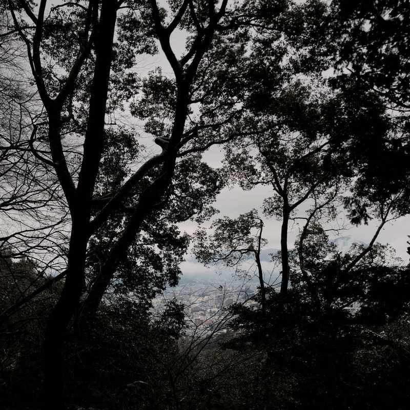 天拝山登山口