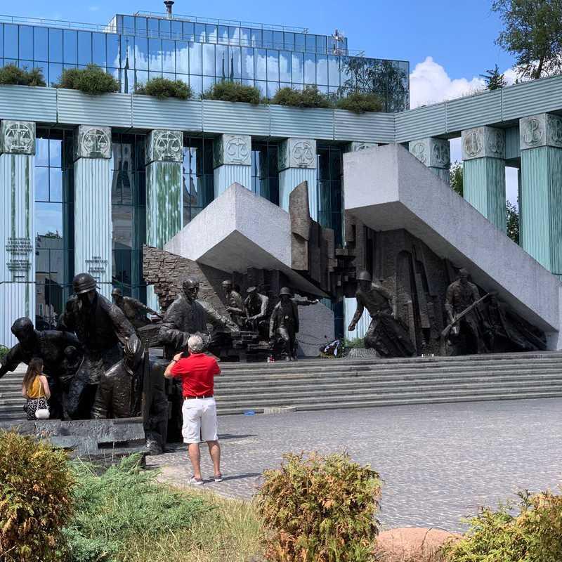 Pomnik Powstania Warszawskiego Memorial to WWII resistance fighters