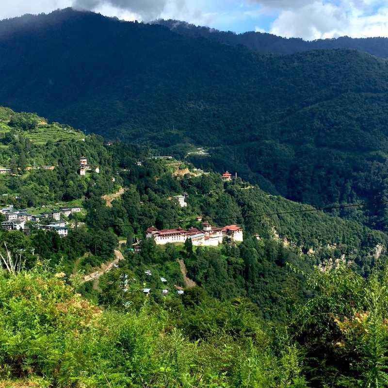 Trongsa Valley with beautiful Trongsa