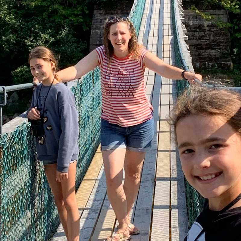 Big Salmon River Suspension Bridge