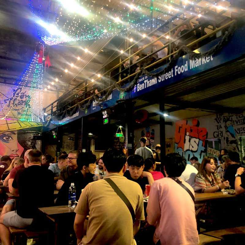 Place / Tourist Attraction: Ben Thanh Street Food Market (District 1, Vietnam)