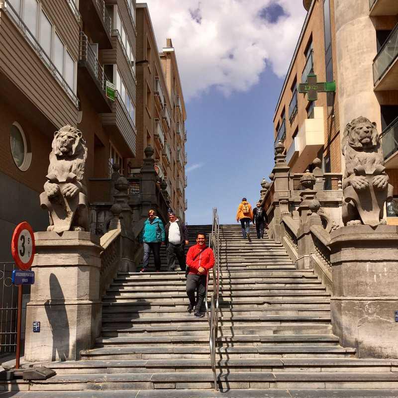 Kerkstraat - Leeuwen trap