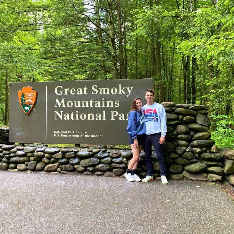 Smoky Mountains National Park Sign
