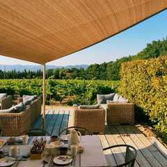 nice hotel porch to enjoy daily breakfast