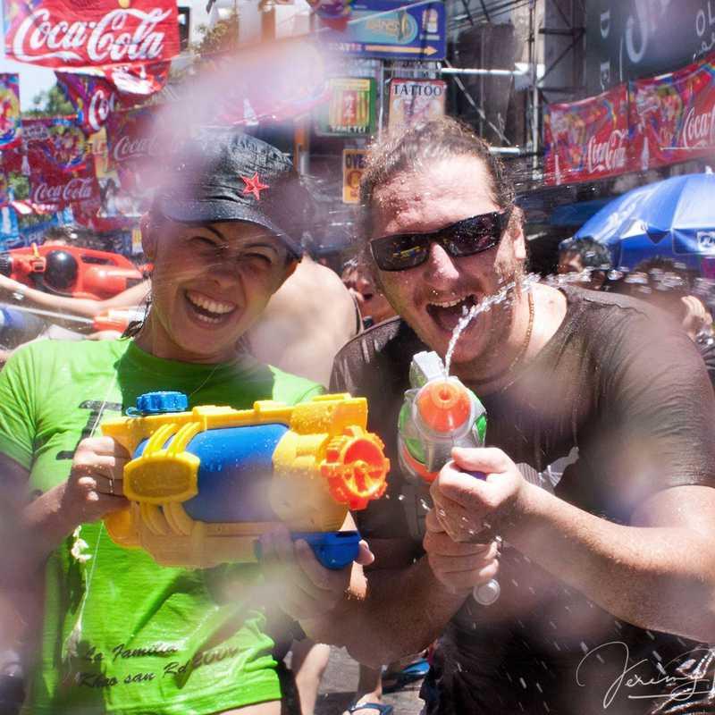 Waterfight at Khao San Road