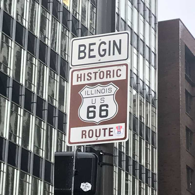 Historic Route 66 Begin Sign