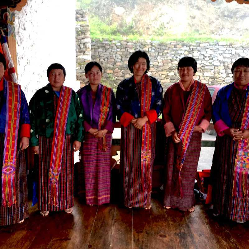 Dance Troupe of Buli village in Bumthang