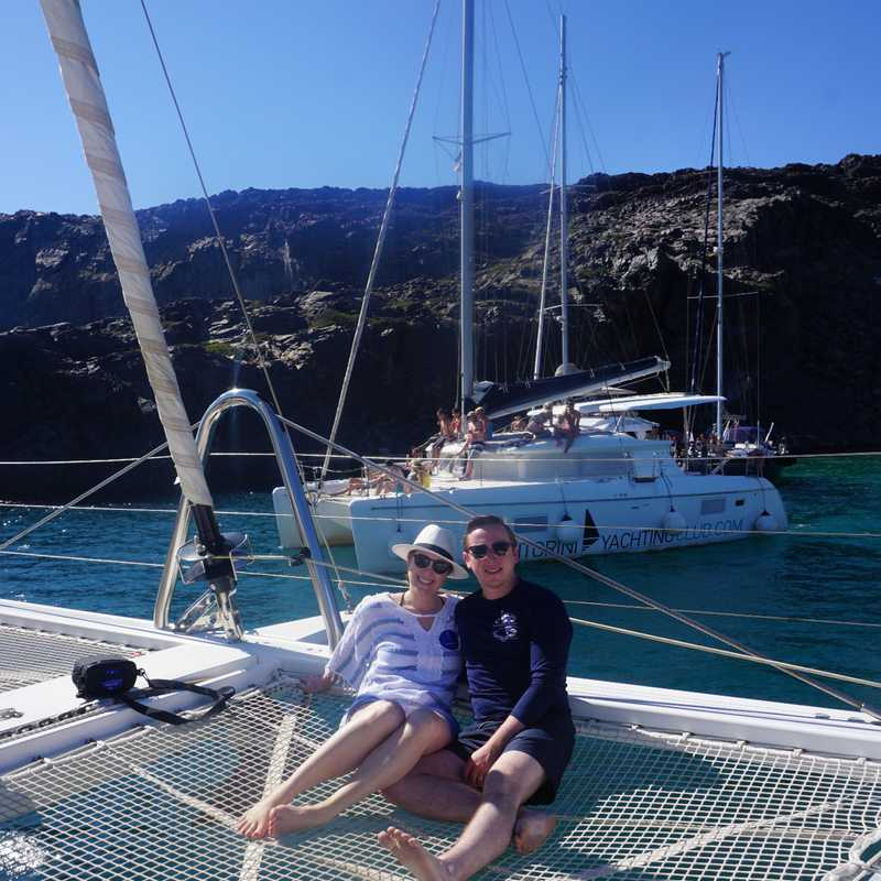Trip Blog Post by @GwynethJ: Santorini Catamaran Trip | 1 day in Sep (itinerary, map & gallery)