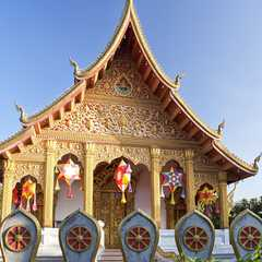 One of the more intricately designed temples in Luang Prabang