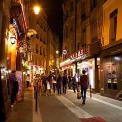 Quartier Latin at night