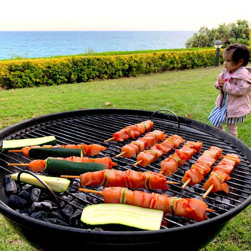 BBQ Dinner at the Airbnb Villa