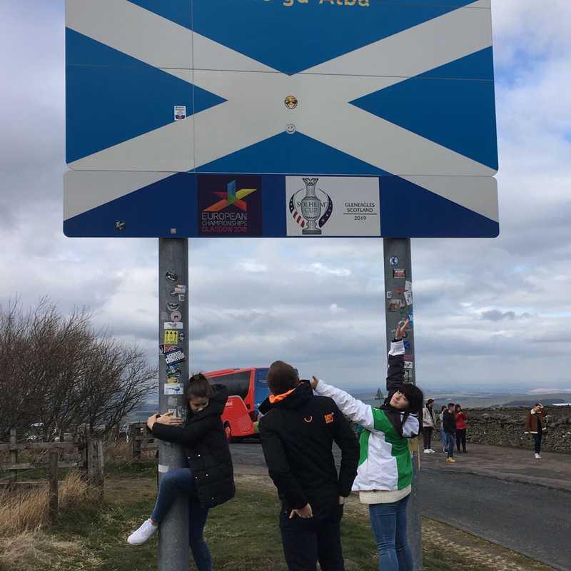 England Scotland Border at Carter Bar