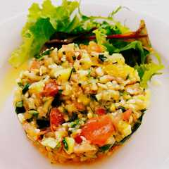 refreshing vegetable tartar