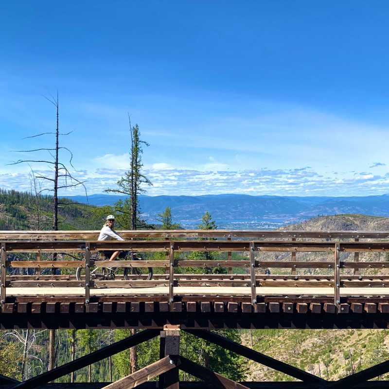 Trip Blog Post by @Patti: Myra Canyon 2020 | 1 day in Aug (itinerary, map & gallery)