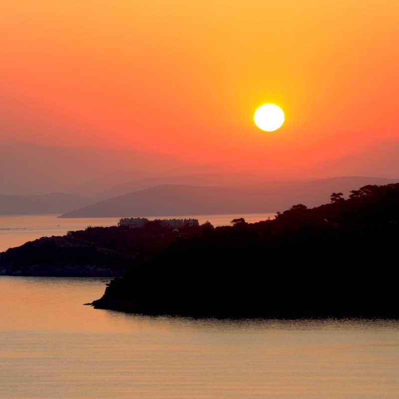 Sunset Over Aegean Sea