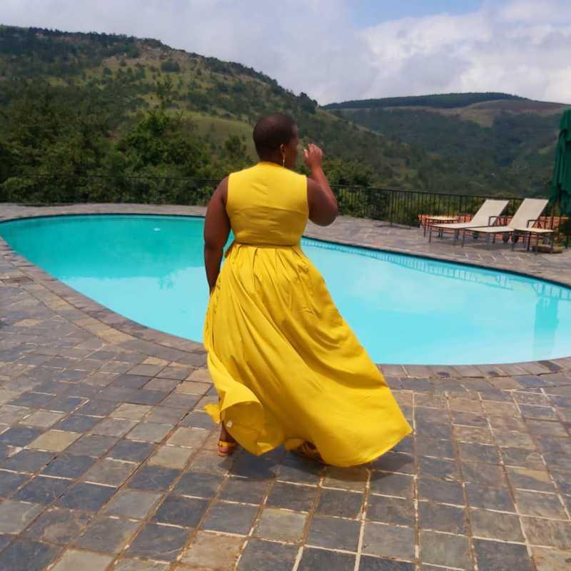 Breakfast by pool side Mount Sheba