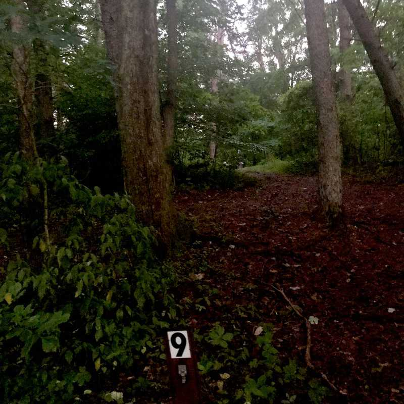 Hocking Hills walk in camp sites