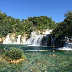 the famous Skradinski Waterfall