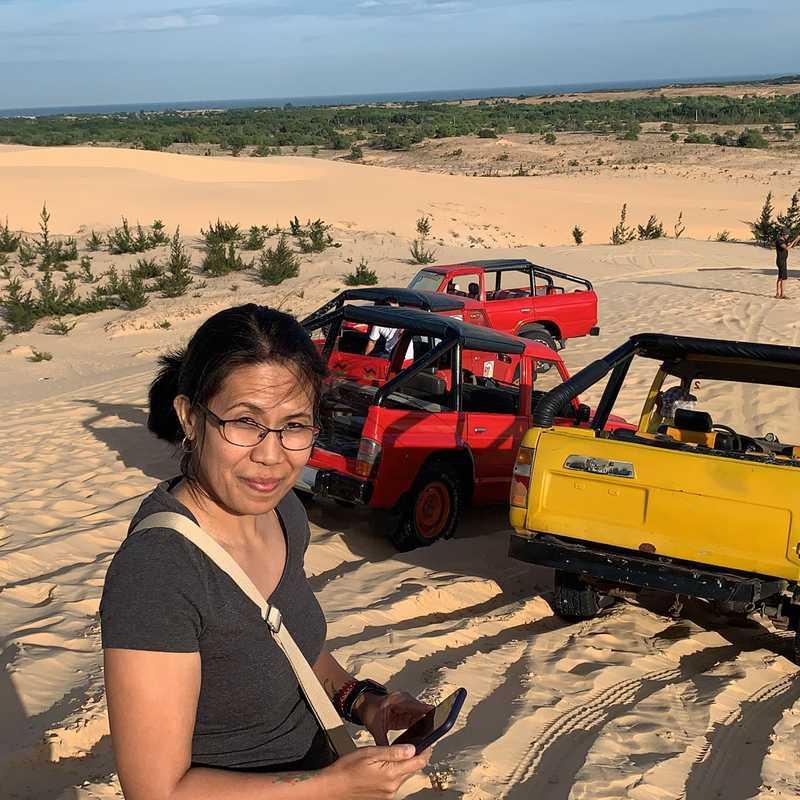 White Sand Dunes-Đồi Cát Trắng