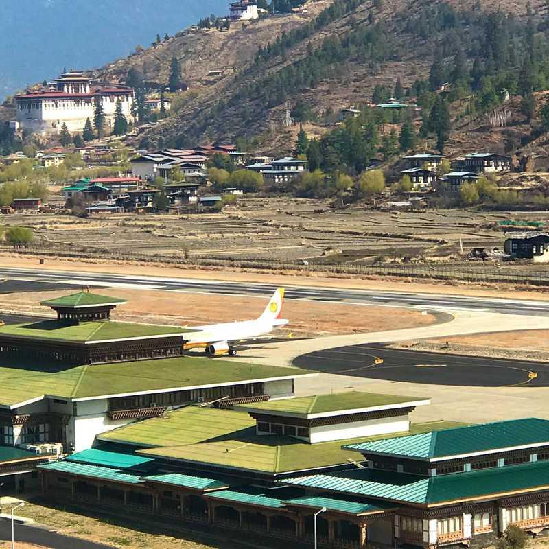 Paro Airport Bird's Eye View Point