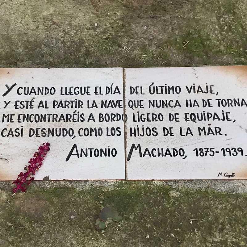 Thomb of Antonio Machado