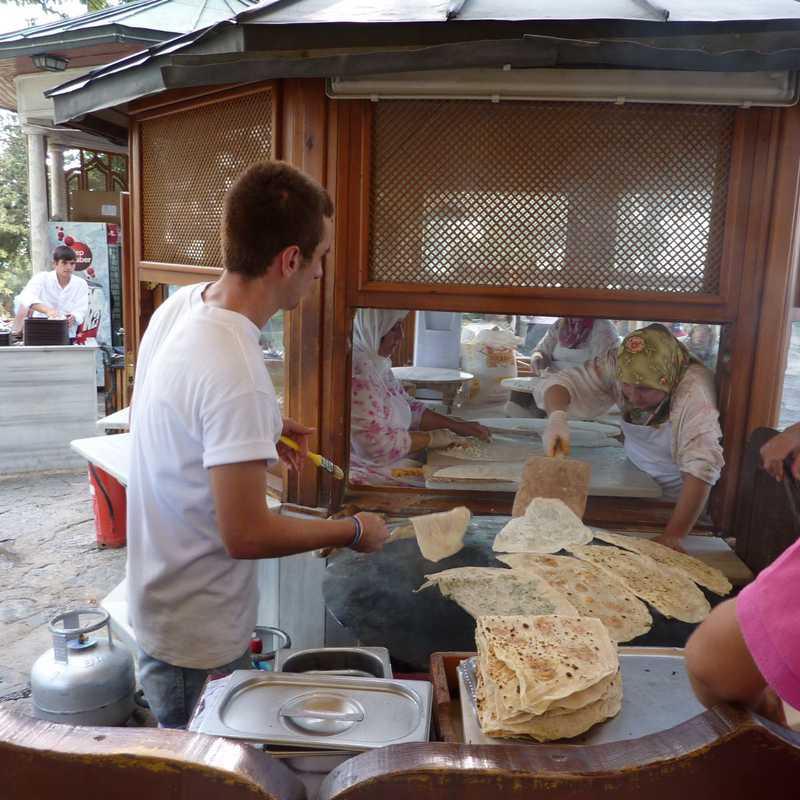 Gozleme Booth at Çamlıca Hill
