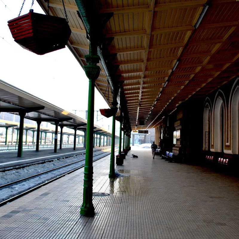 Sinaia train exhibition