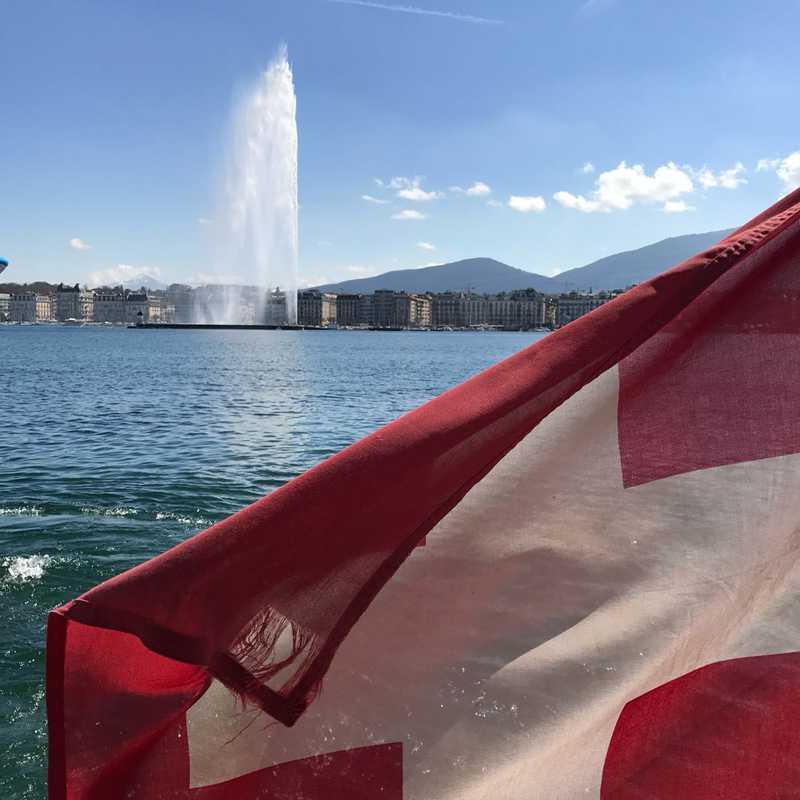 Commuter Ferry on Lake Geneva