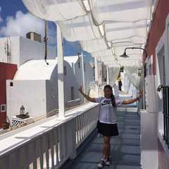Cable car of Santorini
