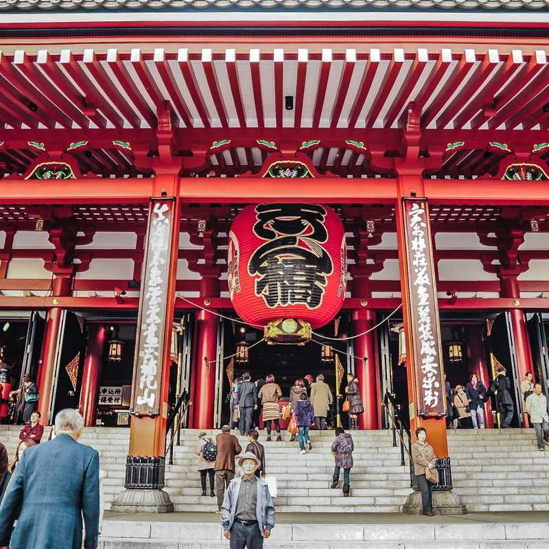 Place / Tourist Attraction: Senso-ji Temple (Taito, Japan)