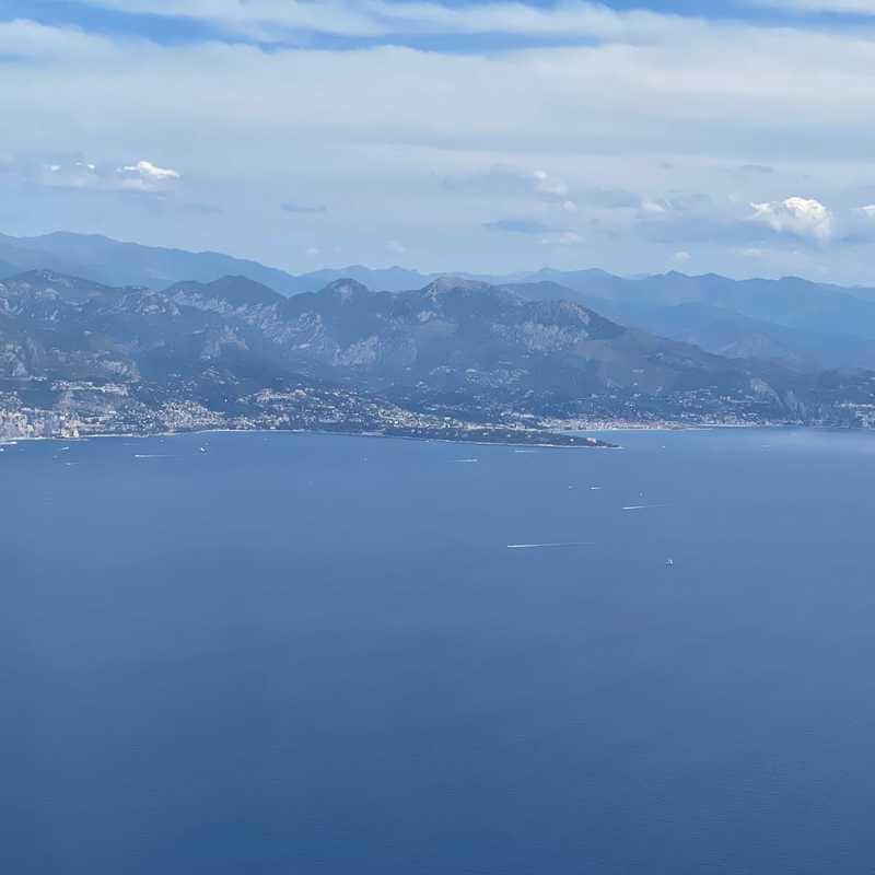 Flying over Cote d'Azur