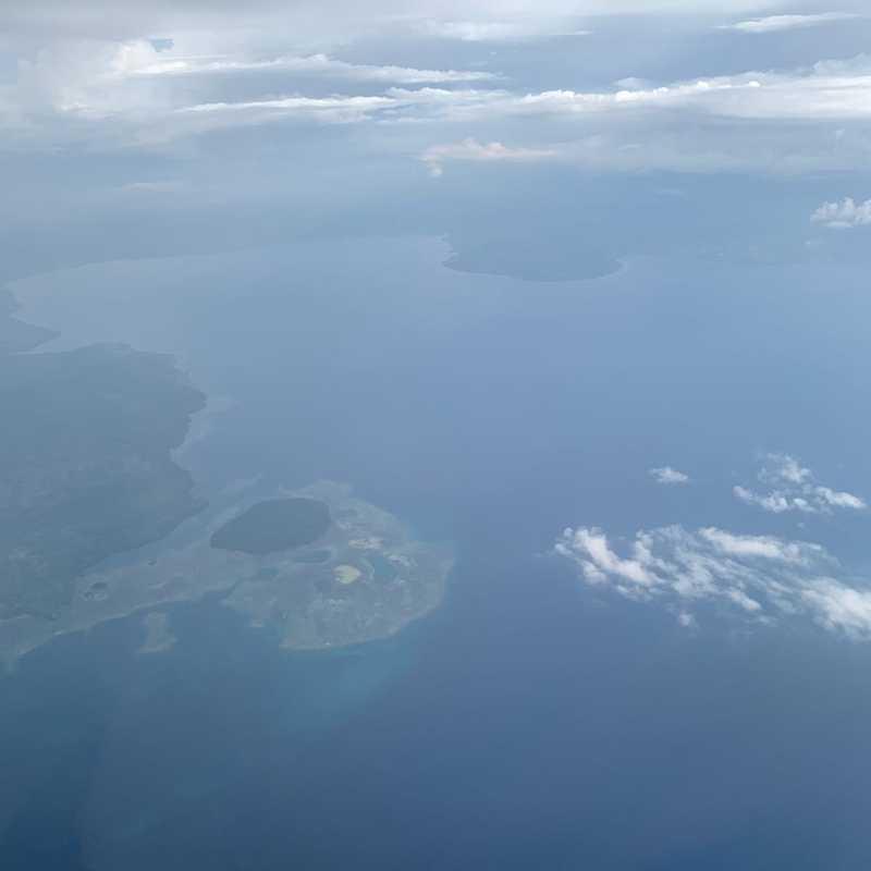 Flying over Manado