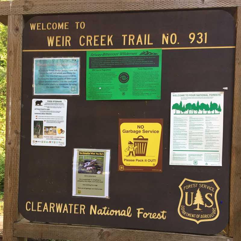 Weir Creek Trailhead