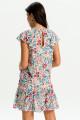Vestido babado barra floral liberty