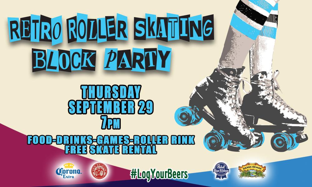 Retro Roller Skating Block Party
