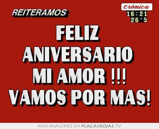 Feliz Aniversario Mi Amor: Feliz Aniversario Mi Amor !!! Vamos Por Mas!