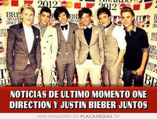 Noticias de último momento One Direction Y Justin Bieber juntos