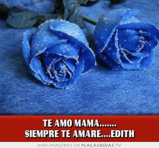 TE AMO MAMÁ..... SIEMPRE TE AMARÉ....EDITH - Placas Rojas TV Feliz Dia Mama