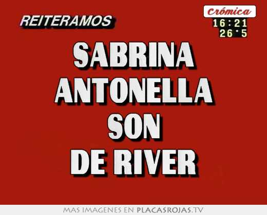 Sabrina antonella son de river