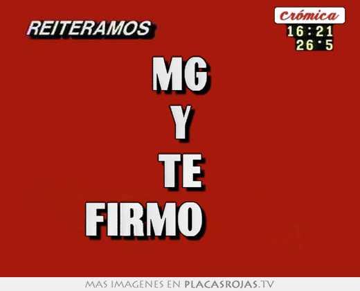 Mg y te firmo ♥