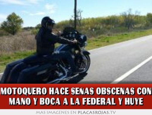 MOTOQUERO HACE SEÑAS OBSCENAS CON MANO Y BOCA A LA FEDERAL ... Uma Thurman
